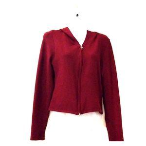 Friends hoodie burgundy/wine color L zip up